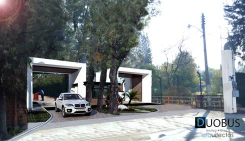 ACCESO: Casas de estilo moderno por DUOBUS M + L arquitectos
