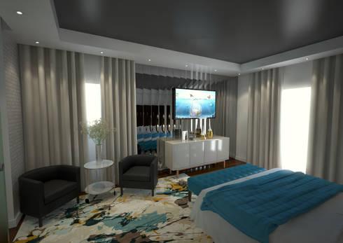 Master Suite: Quartos modernos por Tiago Martins - 3D