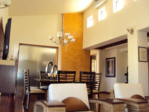 Sala-Comedor: Salas de estilo moderno por Base-Arquitectura