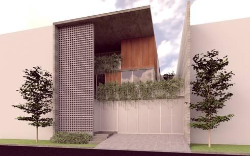 Casa Orta. : Casas de estilo minimalista por Lozano Arquitectos