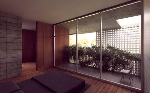 Casa Orta: Recámaras de estilo minimalista por Lozano Arquitectos