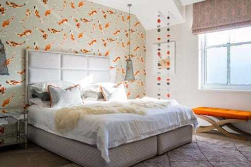 House Paterson Road: eclectic Bedroom by The Painted Door Design Company