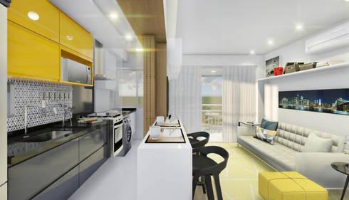 Salas de estar modernas por JS Interiores