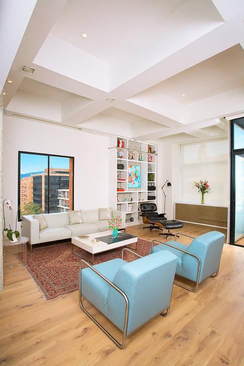 Гостиная в . Автор – Bloque B Arquitectos
