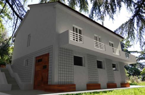 Ristrutturazione casa anni 60 39 di marcellorissoarchitetto for Esterno di case in stile spagnolo