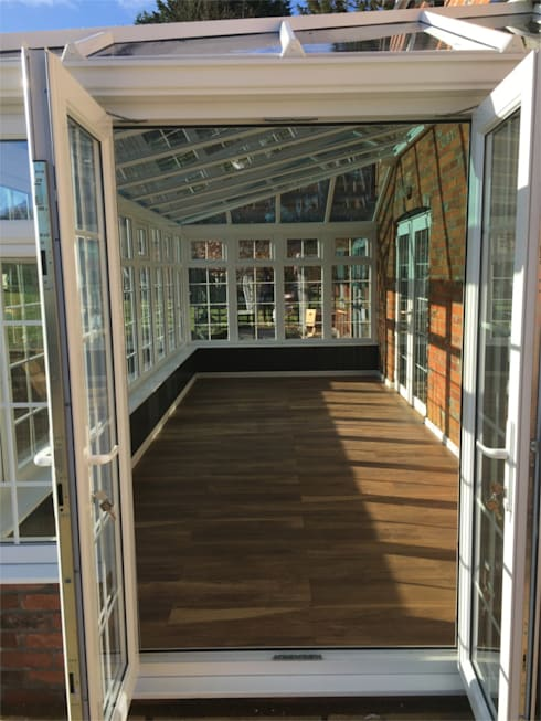 Inside the New Conservatory:  Conservatory by Premier Conservatories & Windows