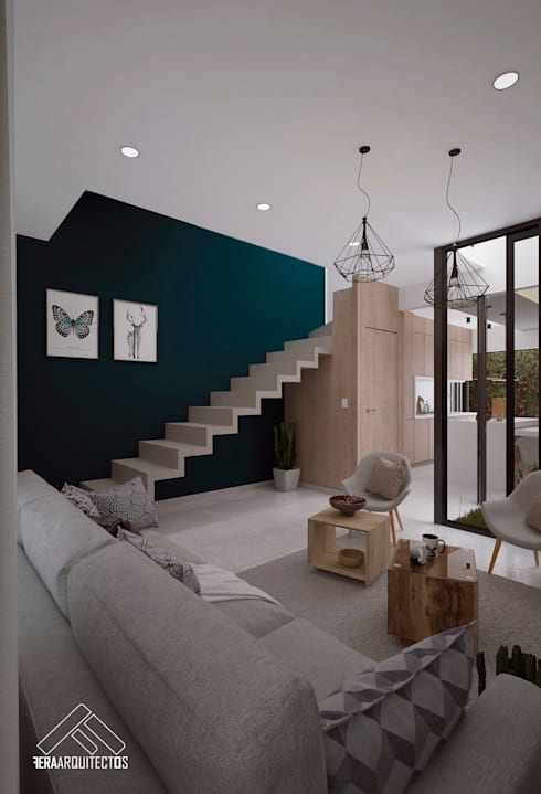 SALA: Salas de estilo  por FERAARQUITECTOS