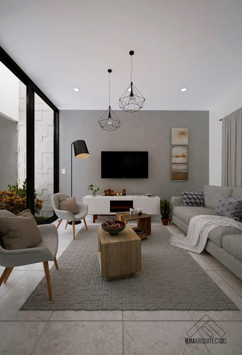 SALA: Salas de estilo moderno por FERAARQUITECTOS