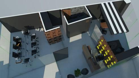 oficina torre bosques ii:  de estilo  por Element+1 taller de arquitectura