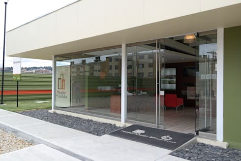Sala de Ventas Proyecto Mirador de Córdoba Pedro Gómez y Cia : Espacios comerciales de estilo  por Bloque B Arquitectos