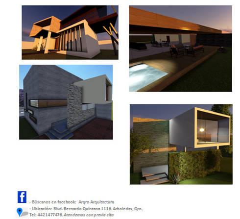 Casa-habitación: Casas de estilo moderno por  Alejandra Romero Arquitectura