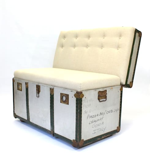 Suitcase Chairs: eclectic Bedroom by Recreate