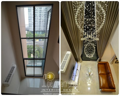 Interior construction Project - Villa Asoke Condominium:   by pipedreamdeco