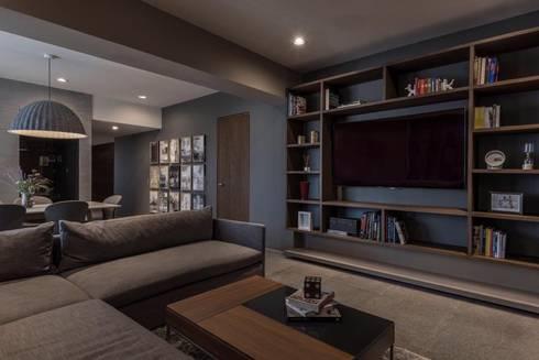 FAMILY ROOM: Estudios y oficinas de estilo moderno por hpernett