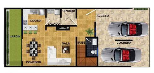 planta baja actual.:  de estilo  por DUOBUS M + L arquitectos