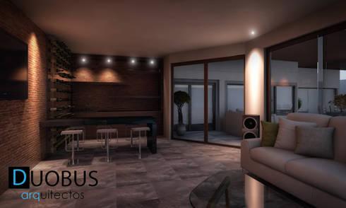 Terraza y Bar Casa K.: Salas de estilo moderno por DUOBUS M + L arquitectos
