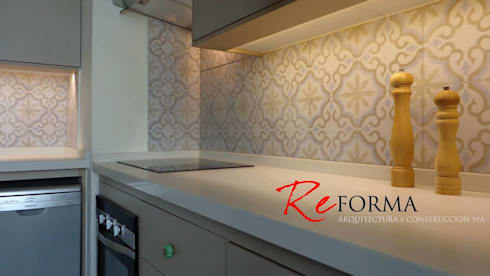 Reforma Malamud Larenas: Cocinas de estilo moderno por Reforma Arquitectura y Construcción SpA