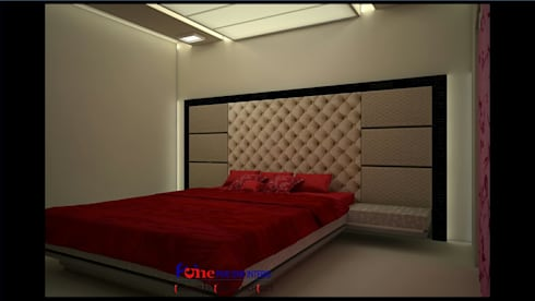 : modern Bedroom by Five One Interio