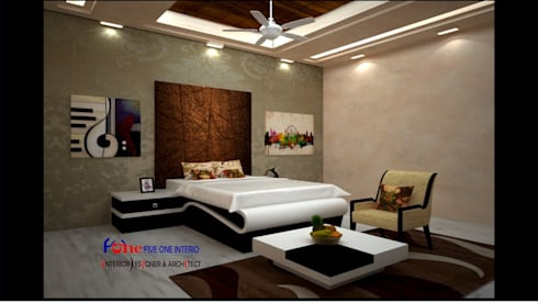 : minimalistic Bedroom by Five One Interio