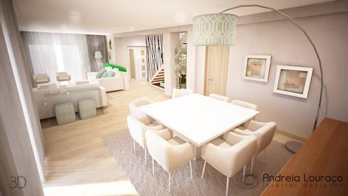 http://www.andreialouraco.pt/: Salas de jantar modernas por Andreia Louraço - Designer de Interiores (Contacto: atelier.andreialouraco@gmail.com)