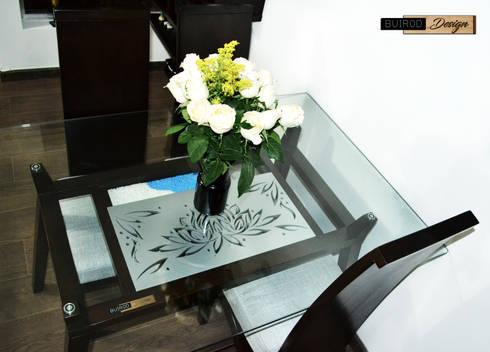 DESIGN OF DINING ROOM LOTTO: Comedor de estilo  por BUIROD DESIGN