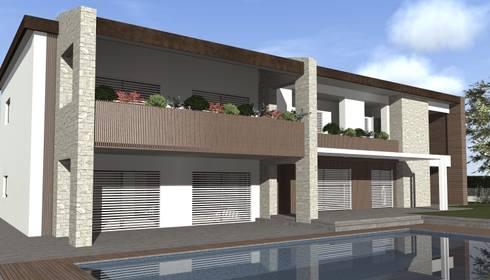 Villa privata di siepi architetti associati homify for Costo piscina seminterrato