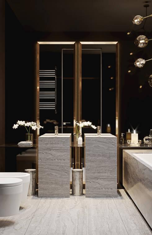 """ЖК """"Esentai City"""" Апартаменты 1-02: Ванные комнаты в . Автор – ATO Studio"""