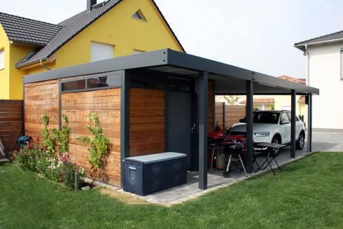 design metallcarport leipzig von stahlzart homify. Black Bedroom Furniture Sets. Home Design Ideas