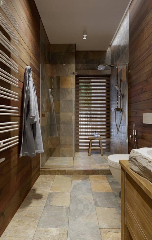 Загородная резиденция шале Ak Bulak 04: Ванные комнаты в . Автор – ATO Studio