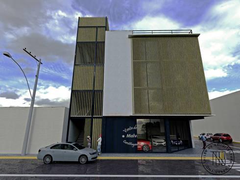 Cons-01: Estudios y oficinas de estilo moderno por Taro Arquitectos