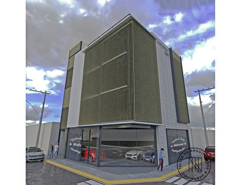 Cons-02: Estudios y oficinas de estilo moderno por Taro Arquitectos