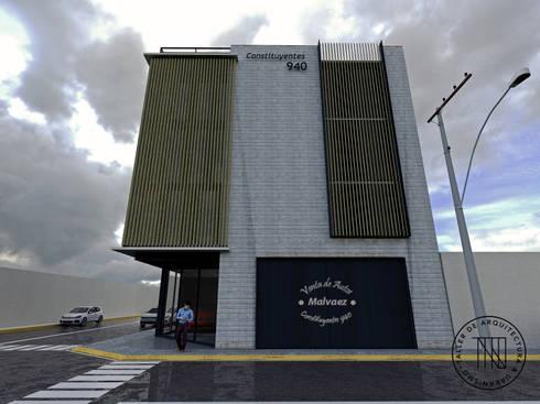 Cons-03: Estudios y oficinas de estilo moderno por Taro Arquitectos