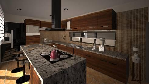 Cocina CLEBE: Cocinas de estilo moderno por Taro Arquitectos