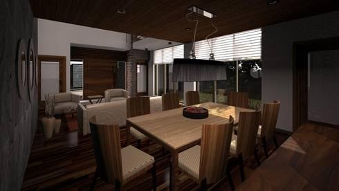 Interior CLEBE: Comedores de estilo moderno por Taro Arquitectos