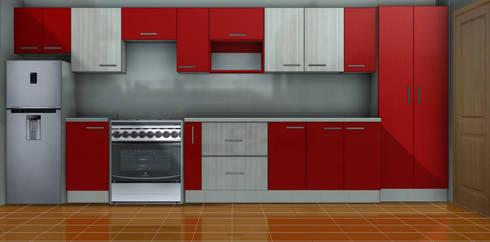 Diseño y construcción de mobiliario cocina :  de estilo  por ARQUITECTURA E INGENIERIA PUNTAL LIMITADA
