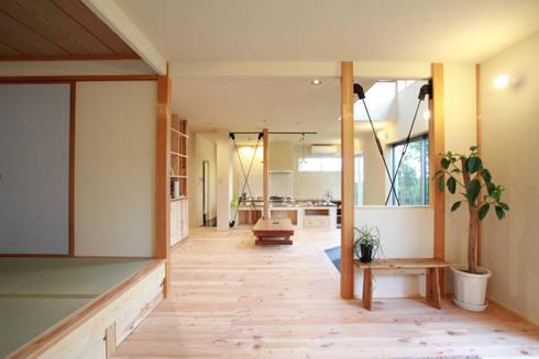 やわらかく隔てられた静の空間: 株式会社 建築工房零が手掛けたです。
