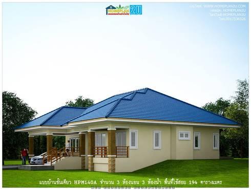 แบบบ้านชั้นเดียว HPM140A:   by แบบแปลนบ้านสำเร็จรูป