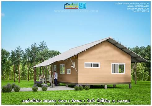 แบบบ้านชั้นเดียว HPS102A:   by แบบแปลนบ้านสำเร็จรูป