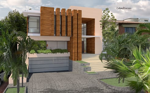 CASA T C: Casas de estilo moderno por Cabas/Garzon Arquitectos
