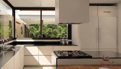 CASA T C: Cocinas de estilo moderno por Cabas/Garzon Arquitectos