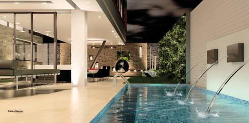 CASA T C: Piscinas de estilo moderno por Cabas/Garzon Arquitectos