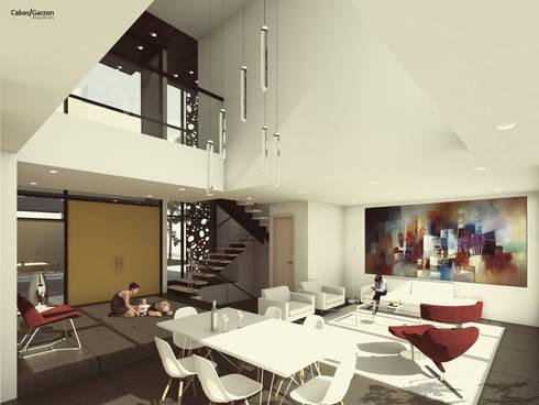 CASAS VILLA CAMPESTRE: Comedores de estilo moderno por Cabas/Garzon Arquitectos