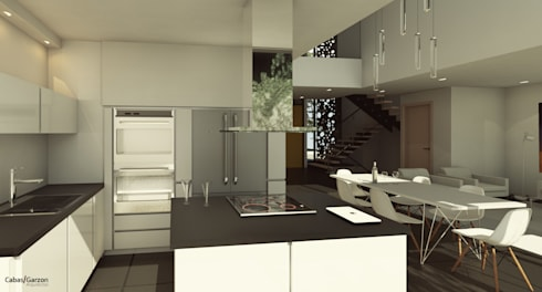 CASAS VILLA CAMPESTRE: Cocinas de estilo moderno por Cabas/Garzon Arquitectos