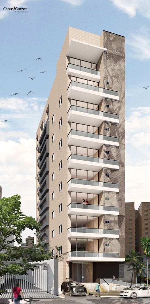 EDIFICIO MIURA: Casas de estilo moderno por Cabas/Garzon Arquitectos