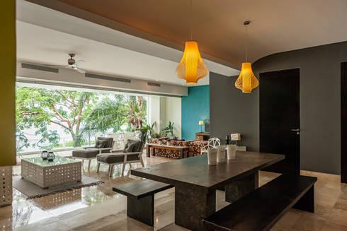 AVALON: Comedores de estilo moderno por MORADA CUATRO