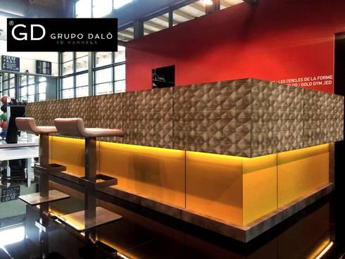 """PANEL DECORATIVO. MODELO """"SHELL"""": Paredes y pisos de estilo moderno por GRUPO DALÒ    PANELES DECORATIVOS EN 3D"""