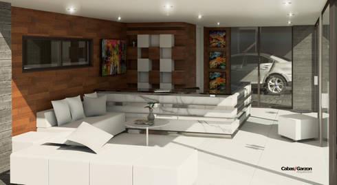 EDIFICIO CHARLOTTE – 2016:  de estilo  por Cabas/Garzon Arquitectos