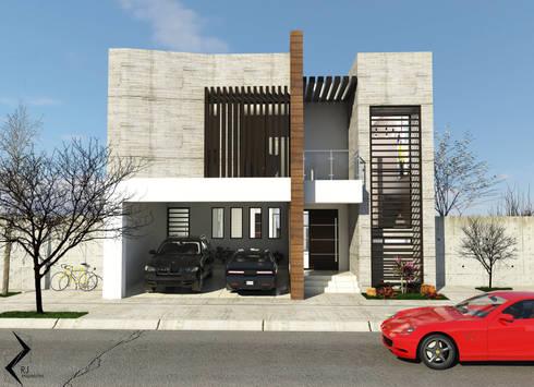 Casa habitacion: Casas de estilo moderno por RJ Arquitectos
