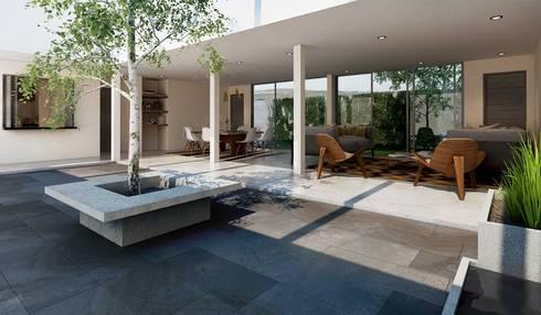 Residencia Guadalajara Jalisco: Terrazas de estilo  por Grupo La México