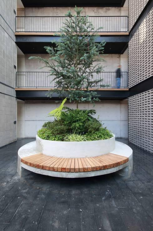 Plaza Principal: Pasillos y recibidores de estilo  por Wolff Arquitectura